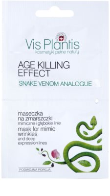 Vis Plantis Age Killing Effect mascarilla facial antiarrugas  con veneno de serpiente