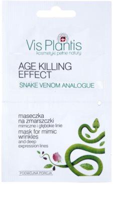 Vis Plantis Age Killing Effect przeciwzmarszczkowa maseczka do twarzy z jadem węża