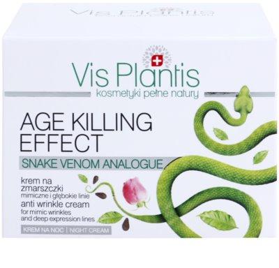 Vis Plantis Age Killing Effect нічний крем проти зморшок із зміїною отрутою 3