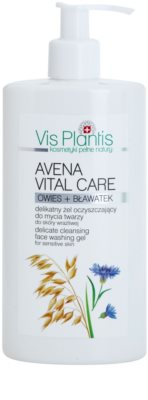 Vis Plantis Avena Vital Care gel limpiador para pieles sensibles