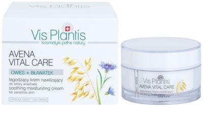 Vis Plantis Avena Vital Care успокояващ крем за чувствителна кожа на лицето 2