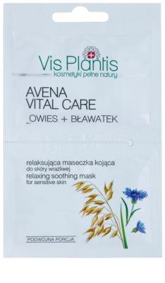 Vis Plantis Avena Vital Care máscara calmante para a pele avermelhada e irritada sem perfume