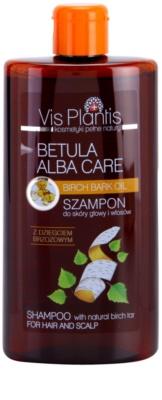 Vis Plantis Betula Alba Care finom állagú sampon a hajra és a fejbőrre