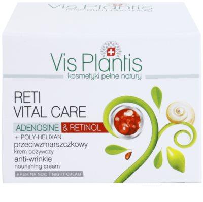 Vis Plantis Reti Vital Care нічний крем проти зморшок з поживною ефекту 3