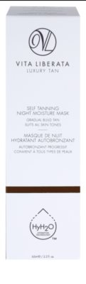 Vita Liberata Skin Care máscara de noite hidratante com efeito autobronzeador 2