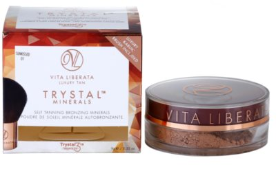 Vita Liberata Trystal Minerals pó bronzeador com pincel 3