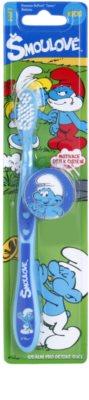 VitalCare The Smurfs gyermek fogkefe fedővel