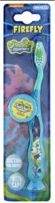 VitalCare SpongeBob zobna ščetka za otroke s potovalnim pokrovčkom soft