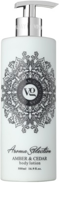 Vivian Gray Aroma Selection Amber & Cedar testápoló tej