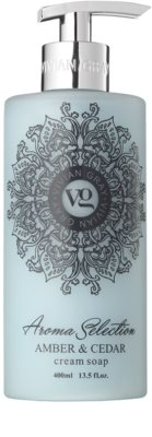 Vivian Gray Aroma Selection Amber & Cedar кремове рідке мило