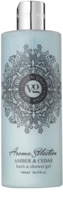Vivian Gray Aroma Selection Amber & Cedar gel de ducha y para baño