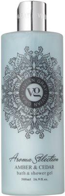 Vivian Gray Aroma Selection Amber & Cedar sprchový a koupelový gel