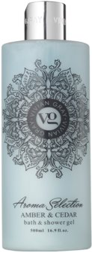 Vivian Gray Aroma Selection Amber & Cedar tusoló- és fürdőgél