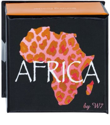 W7 Cosmetics Africa bronz puder s čopičem 2