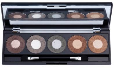 W7 Cosmetics Autumn Eyes палитра от сенки за очи с огледалце и апликатор