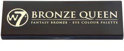 W7 Cosmetics Bronze Queen paleta očních stínů se zrcátkem a aplikátorem 1