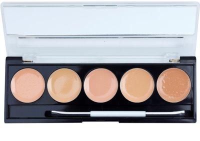 W7 Cosmetics Camouflage Kit Palette mit Korrekturstiften inkl. Spiegel und Pinsel