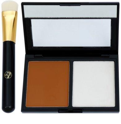 W7 Cosmetics Catwalk palete de cores para contorno de rosto com espelho e aplicador