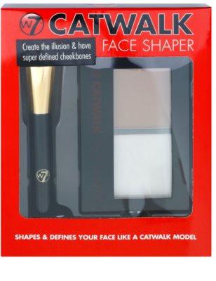 W7 Cosmetics Catwalk палетка для контурування з дзеркальцем та аплікатором 1