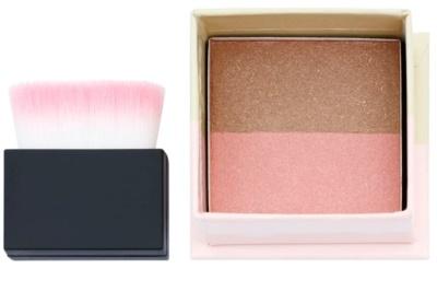 W7 Cosmetics Double Act Bronzer und Highlighter mit Pinselchen
