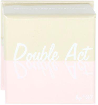 W7 Cosmetics Double Act бронзер та освітлювач зі щіточкою 2