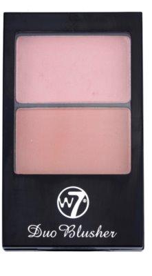 W7 Cosmetics Duo Blusher tvářenka se štětečkem 1