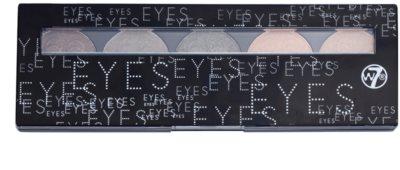 W7 Cosmetics Eye Shadow paleta cieni do powiek z lusterkiem i aplikatorem 1