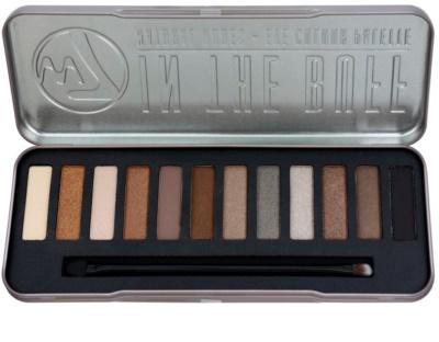 W7 Cosmetics In the Buff paleta de sombras de ojos con aplicador