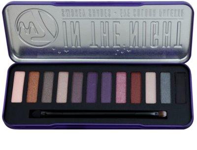 W7 Cosmetics In the Night paleta očních stínů s aplikátorem