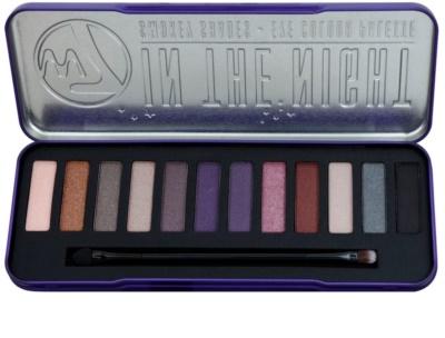 W7 Cosmetics In the Night Palette mit Lidschatten mit einem  Applikator