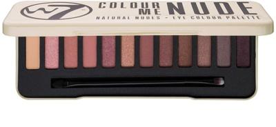 W7 Cosmetics In the Nude paleta očních stínů s aplikátorem