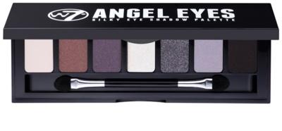 W7 Cosmetics Angel Eyes Jet Set paleta de sombras de ojos con espejo y aplicador