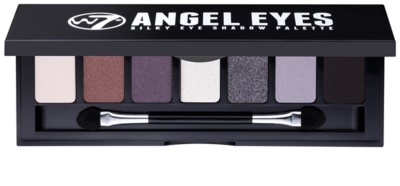 W7 Cosmetics Angel Eyes Jet Set paleta očních stínů se zrcátkem a aplikátorem