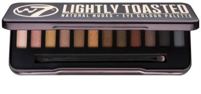 W7 Cosmetics In the Buff Lightly Toasted paleta očních stínů s aplikátorem