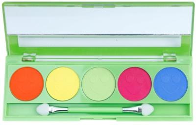 W7 Cosmetics Neon Eyes szemhéjfesték paletták tükörrel és aplikátorral