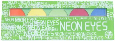 W7 Cosmetics Neon Eyes paleta farduri de ochi cu oglinda si aplicator 1