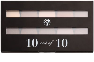 W7 Cosmetics 10 Out of 10 paleta očních stínů 1