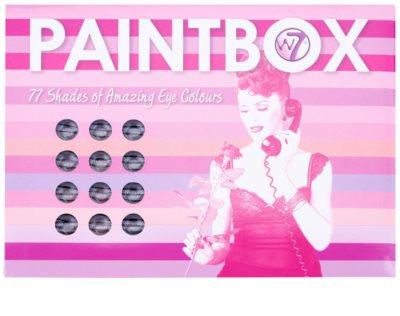 W7 Cosmetics Paintbox paleta cieni do powiek z lusterkiem i aplikatorem 2
