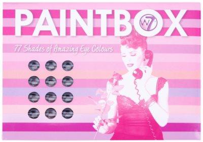 W7 Cosmetics Paintbox палетка тіней з дзеркальцем та аплікатором 2