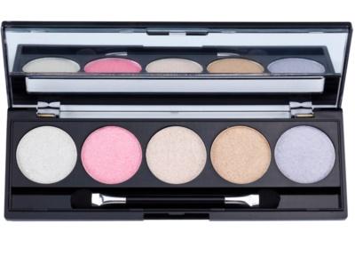 W7 Cosmetics The Big Five paleta senčil za oči z ogledalom in aplikatorjem