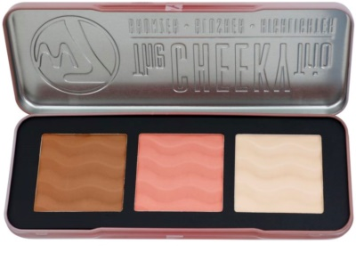 W7 Cosmetics The Cheeky Trio arckontúr paletta