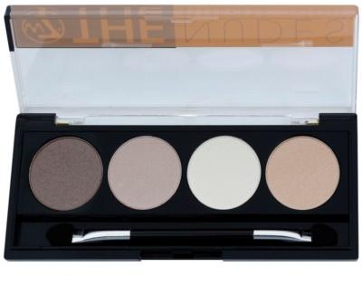 W7 Cosmetics The Nudes paleta očních stínů s aplikátorem