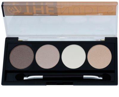 W7 Cosmetics The Nudes Palette mit Lidschatten mit einem  Applikator