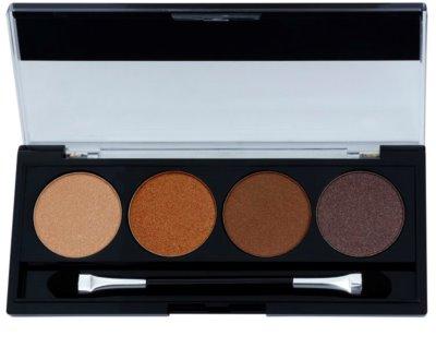 W7 Cosmetics Toasted Palette mit Lidschatten mit einem  Applikator