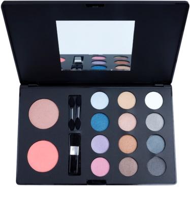W7 Cosmetics The Tool Kit multifunkciós arc paletta tükörrel és aplikátorral
