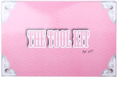 W7 Cosmetics The Tool Kit multifunkciós arc paletta tükörrel és aplikátorral 2