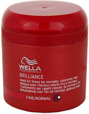 Wella Professionals Brilliance masca pentru par fin si colorat