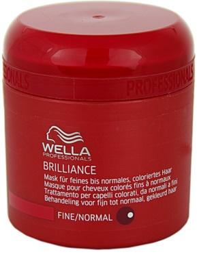 Wella Professionals Brilliance máscara para cabelo fino e colorido