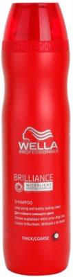 Wella Professionals Brilliance sampon a vastagszálú, festett hajra
