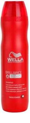 Wella Professionals Brilliance szampon do grubych włosów  farbowanych